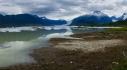 Porcupine River and calving glacier, NW BC